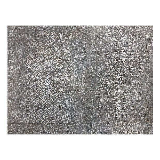 Gray Shagreen Coffee Table / Cone Shape Legs For Sale In Miami - Image 6 of 8