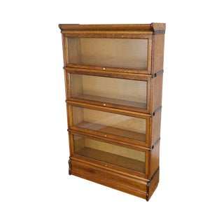 Antique Oak 4 Stack Barristers Bookcase For Sale