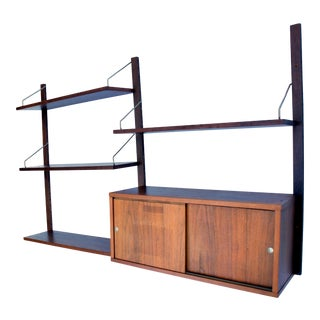 1960s Vintage Poul Cadovius Cado Royal System Wall Unit For Sale