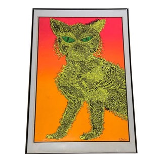 1970's Vintage Electric Cat Poster, Brady Bunch House For Sale