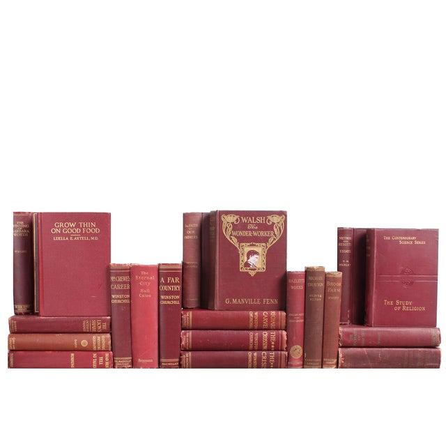 Antique Maroon & Gilt Books - Set of 20 - Image 1 of 2