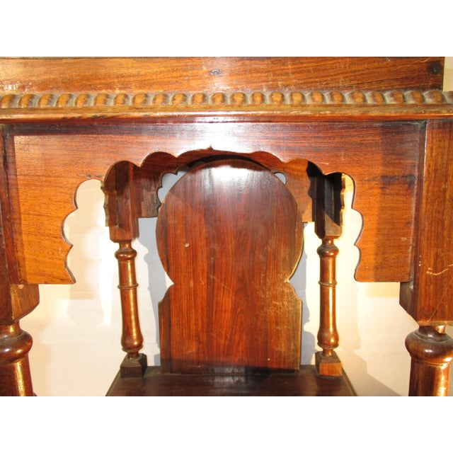 English Late 19th Century Vintage Indian Rosewood House Shrine Model For Sale - Image 3 of 12