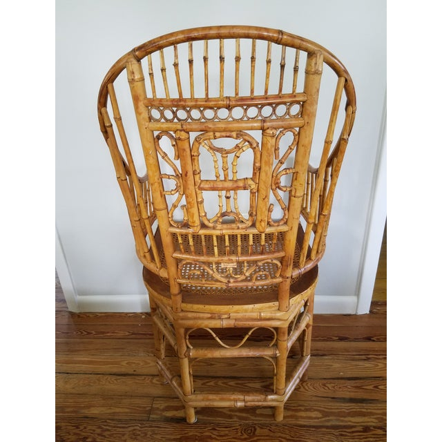 Asian Thomasville Bamboo Chinoiserie Armchair For Sale - Image 3 of 6