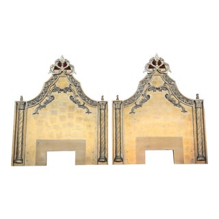 1960s Hollywood Regency Gold Twin Headboards - a Pair For Sale