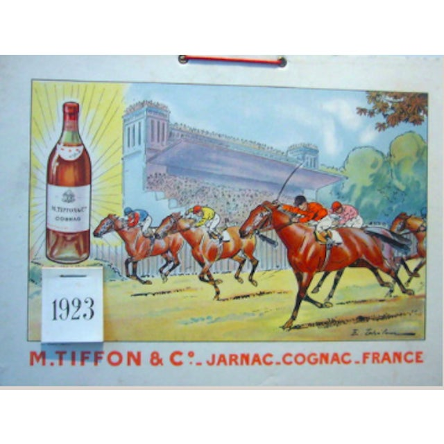 A wonderful, rare and exceptionally colored piece for Tiffon Cognac—a company started only four years before this piece...