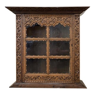 Vintage Rustic Dutch Wall Cabinet For Sale