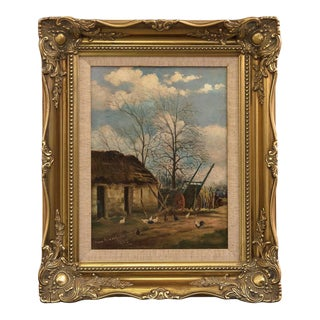 Framed English Oil Painting 'by Tom Robertson' For Sale