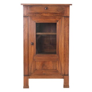 French 19th Century Walnut Vitrine