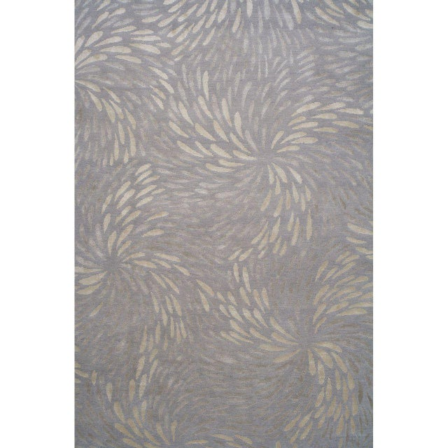 """The """"Swirl"""" rug is based on a 17th century Kimono pattern, incorporates a repeat pattern of an enlarged two-toned flower..."""