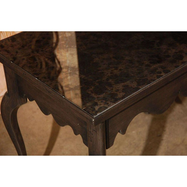 Customizable Paul Marra Cabriole Leg Table with Mirrored Top For Sale In Los Angeles - Image 6 of 6