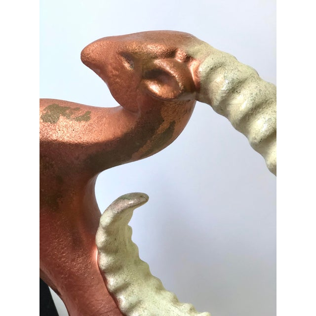 Mid-Century Modern Ceramic Ibex Figurine by Royal Haegar For Sale In Atlanta - Image 6 of 13