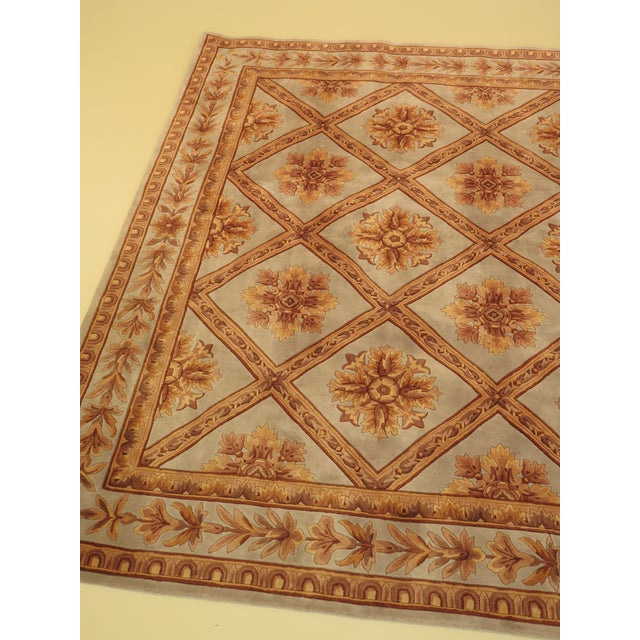 Sculptured Approx: 9' x 13' Formal Regency 100% Wool Rug. Age: Approx: 10 Years Old Details: Bright & Vibrant Colors...