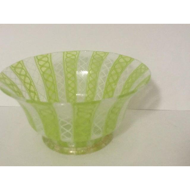 Latticino Italian Glass Bowl - Image 3 of 8