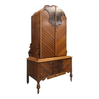 1920s Gettysburg Furniture Company Art Deco Armoire/Wardrobe For Sale