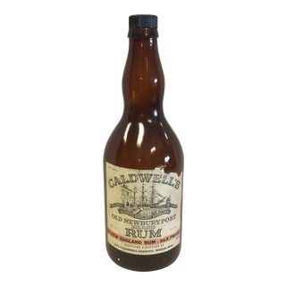 Vintage Caldwell's Rum Bottle