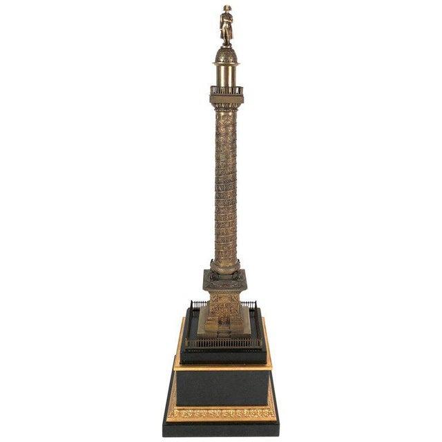 Large Grand Tour Gilt Bronze Model of the Place Vendome Napoleon Column in Paris For Sale - Image 13 of 13