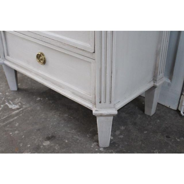 Metal 20th Century Swedish Gustavian Style Nightstands - A Pair For Sale - Image 7 of 11