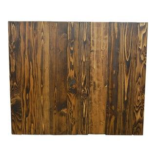 Hanger Barn Walls Twin Headboard in Dark Walnut Stain