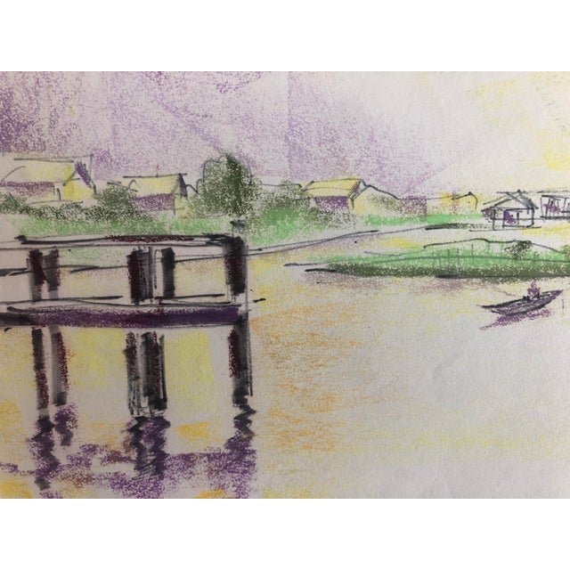 Illustration Lowcountry Marsh Scene on Pawley's Island, Sc 1966 For Sale - Image 3 of 6