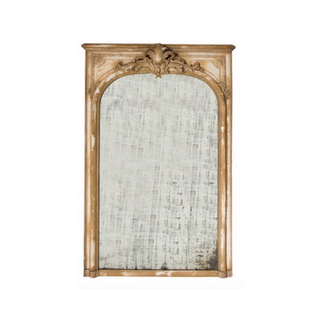 French Antique French Wood & Plaster Mirror For Sale - Image 3 of 11