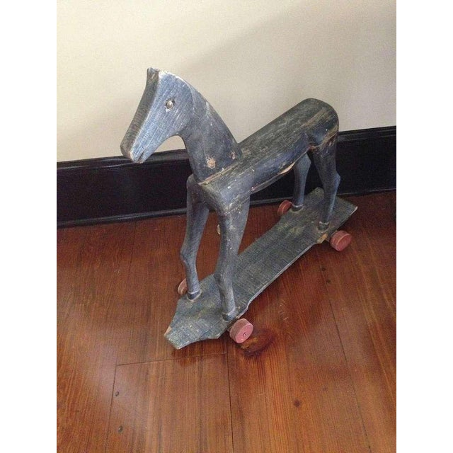 19th Century Primitive French Carved Toy Horse For Sale - Image 4 of 6