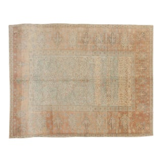 "Vintage Distressed Oushak Carpet - 6'3"" X 7'11"""