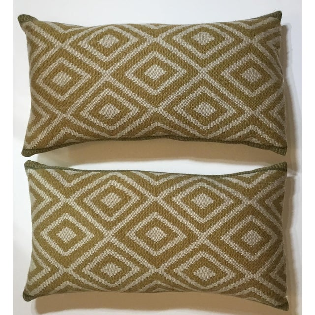 Vintage Geomtic Motif Pillows - A Pair - Image 2 of 9