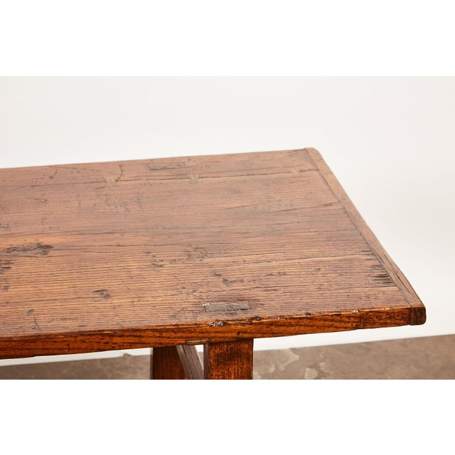 Early 19th Century Chinese Elm Table For Sale In Los Angeles - Image 6 of 9