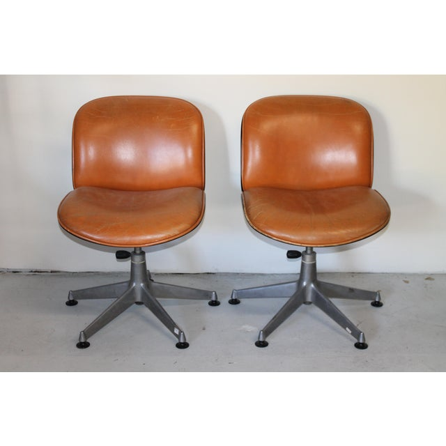 1960s Vintage Ico Parisi Italian Ultra Modern Leather Chairs- A Pair For Sale - Image 12 of 12