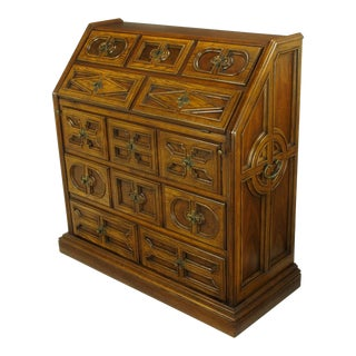 Drexel Sandia Collection Jacobean Drop-Front Desk For Sale