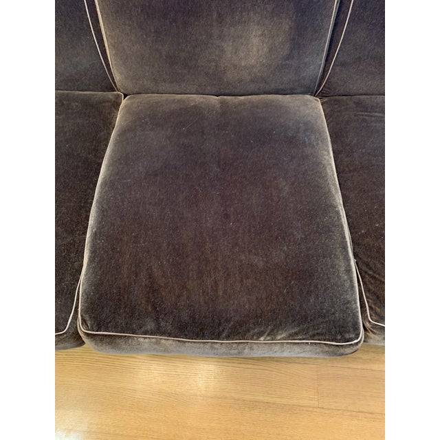 Modern Schumacher Mohair Three Seat Sofa / 2 Available For Sale - Image 10 of 12