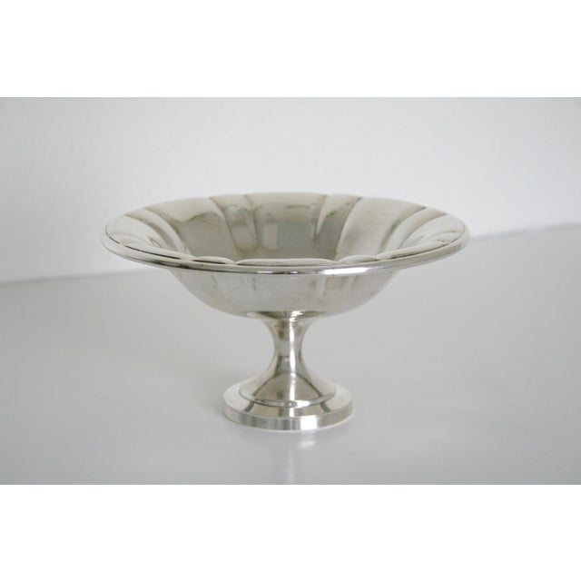Mid 20th Century Oneida Silversmiths Pedestal Bowl For Sale - Image 5 of 5