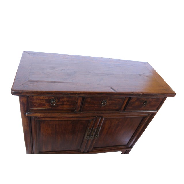 Chinese Countryside Three-Drawer Chinese Cabinet For Sale - Image 3 of 7