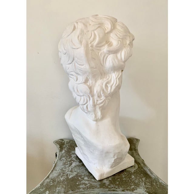 White 1990s Plaster Bust of David Sculpture For Sale - Image 8 of 12