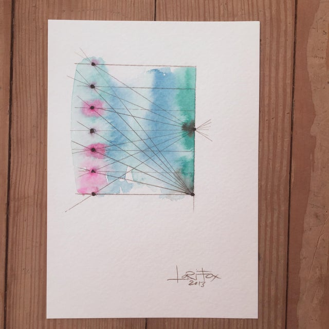 """""""Connected"""" Watercolor Painting - Image 2 of 6"""