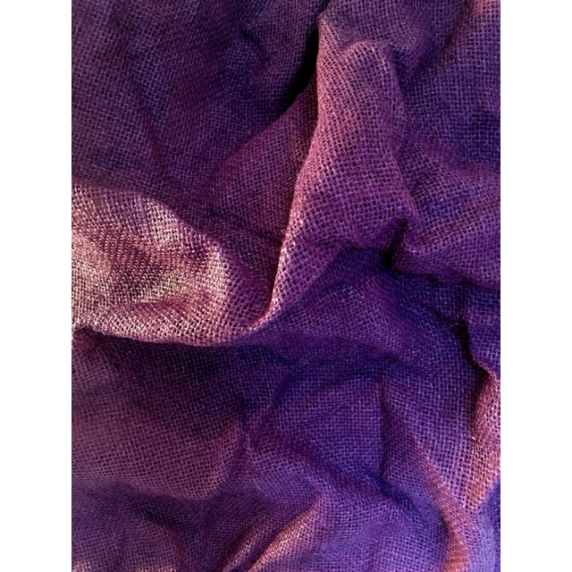 """Purple """"Plum Folds"""" Mixed Media Wall Sculpture by Chloe Hedden For Sale - Image 8 of 9"""
