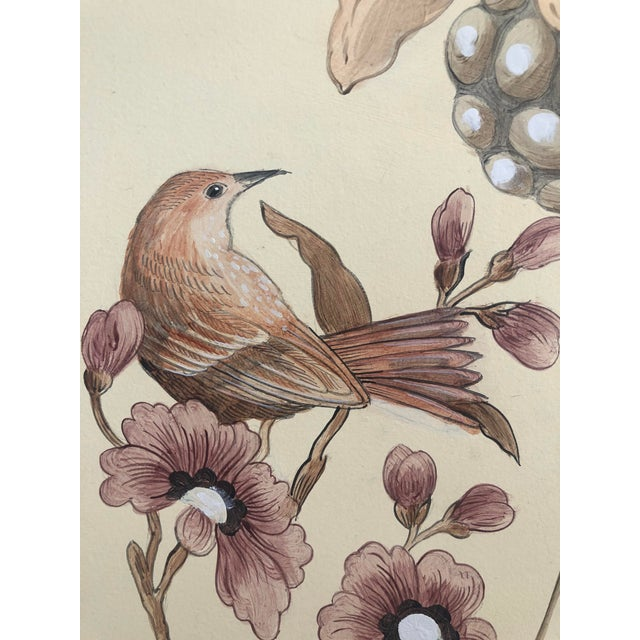 """Feather Chinoiserie Style Bird Painting, """"Without Feather Ado"""" For Sale - Image 7 of 10"""