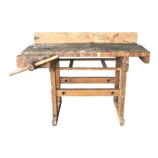 Primitive Rustic Workbench Table