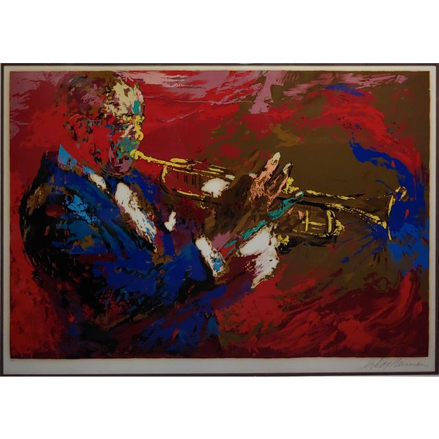 1970s 1976 Portrait Silkscreen of Satchmo Louis Armstrong by Leroy Neiman For Sale - Image 5 of 10