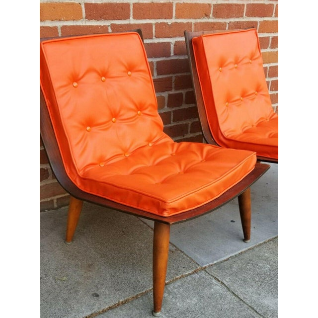 Mid-Century Bentwood Upholstered Carter Brothers Scoop Chairs- A Pair For Sale In Sacramento - Image 6 of 9