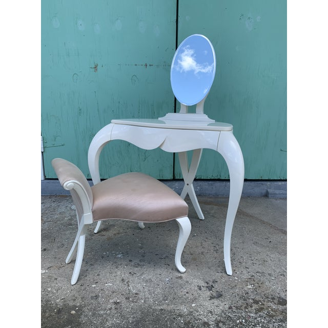 Christopher Guy Vanity Fair Dressing Table & Stool For Sale - Image 13 of 13