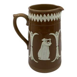 19th Century English Dudson Stoneware Pitcher For Sale