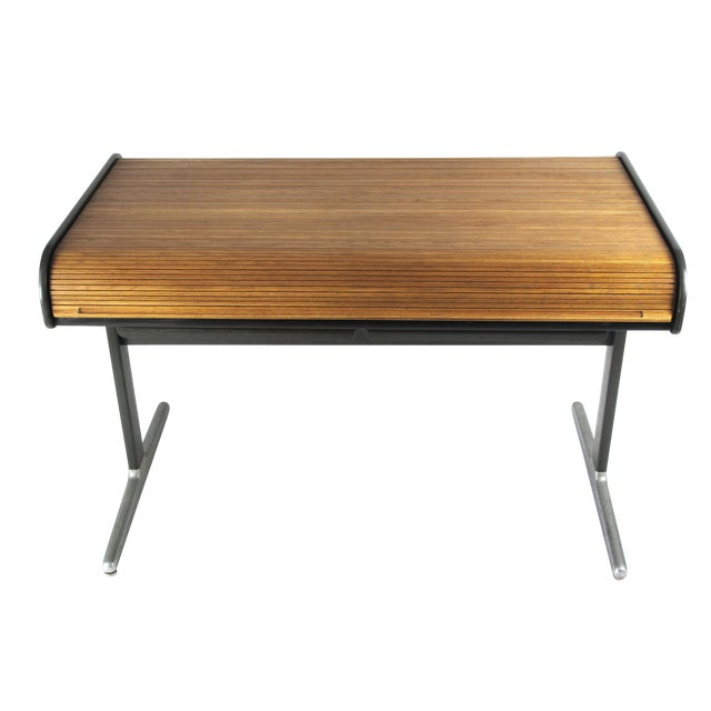 1960s Mid-Century Modern George Nelson Roll Top Desk For Sale