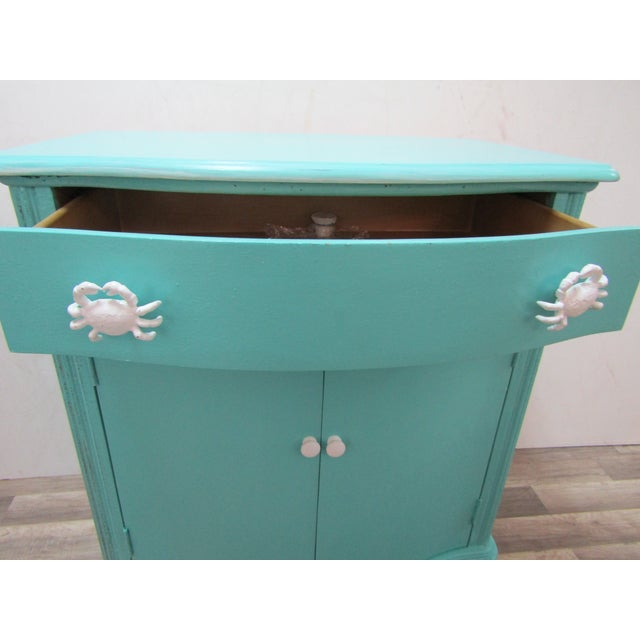 Vintage Coastal Cabinet With Crab Pulls For Sale - Image 4 of 7