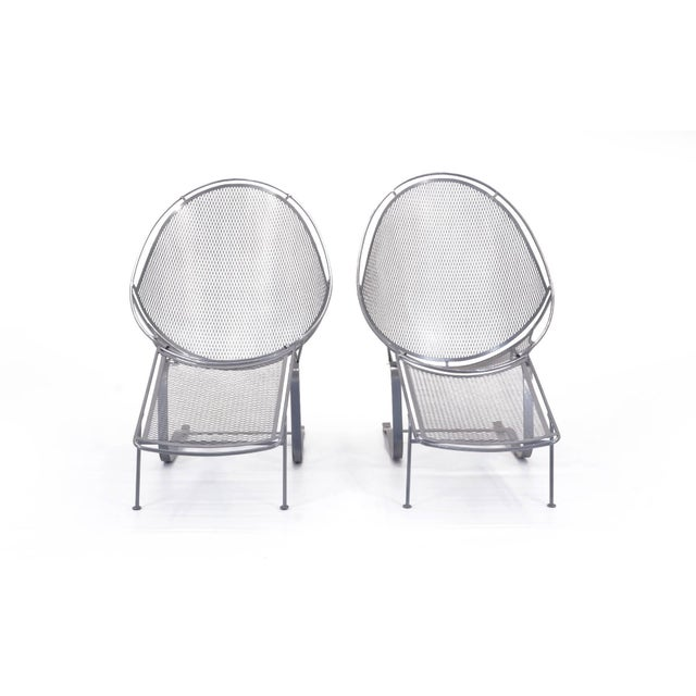 Mid-Century Modern John Salterini High Back Patio Lounge Chairs With Footrests - a Pair For Sale - Image 3 of 11