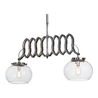 Gryson Industrial Nickel Ceiling Lamp