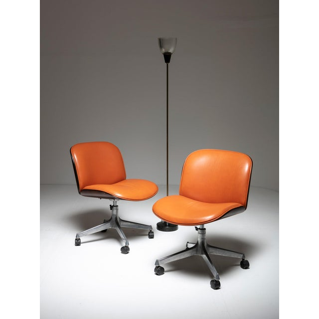 Ico Parisi Set of Two Office Chairs by Mim For Sale - Image 4 of 5