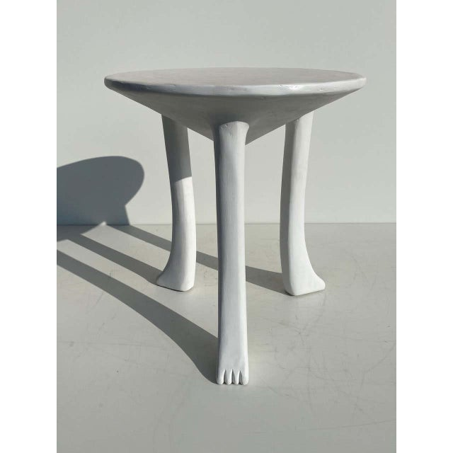 African Side Tables with Feet - a Pair For Sale - Image 9 of 12