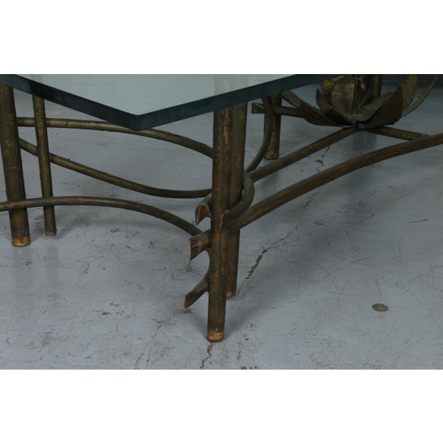Brutalist Lotus Coffee Table For Sale - Image 5 of 10