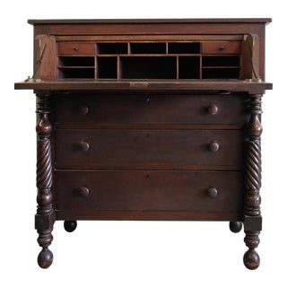 Antique 1800s Butler Chest with Desk Drawer For Sale